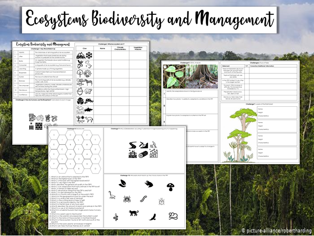 Revision Challenge - Ecosystems, Biodiversity and Management