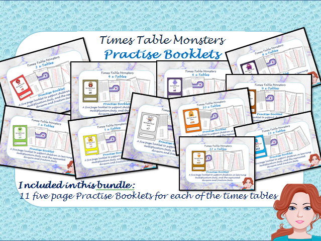 Times Tables Practise Booklets