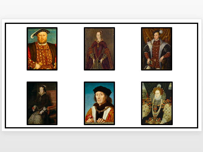 Tudor Monarchs Matching Activity/Game