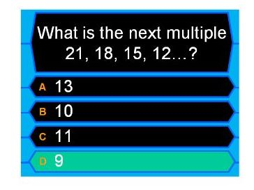3 Times Table- Who wants to be a millionaire