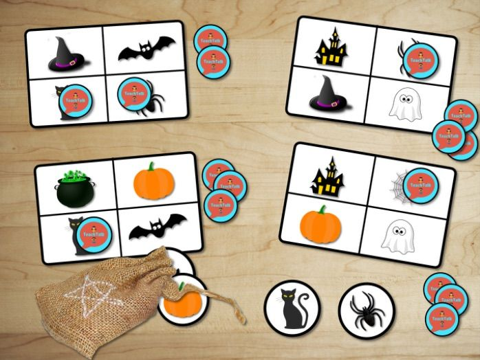 FREE Spooky Halloween 3-in-1 Matching, Lotto and Pairs printable games. Early Years.