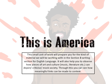 How to link to social context: Childish Gambino's This is America