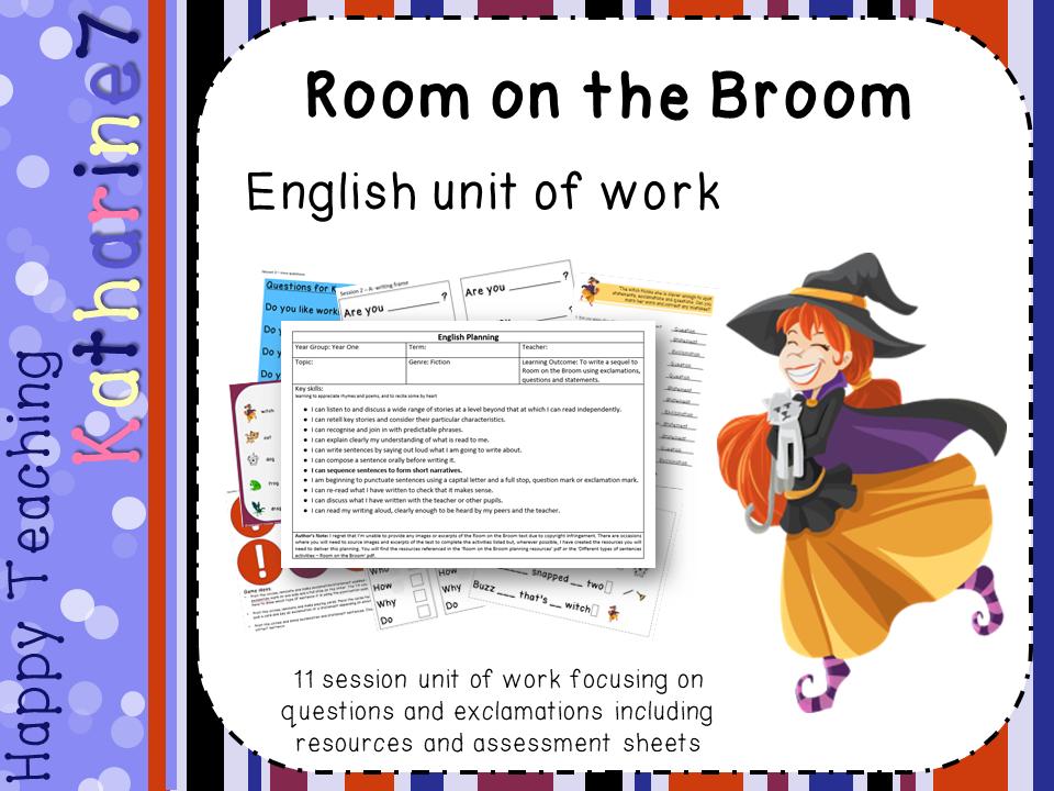 Room on the Broom - English Unit of Work