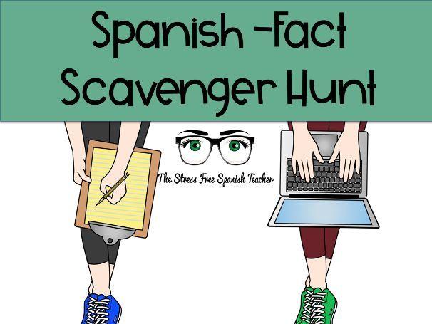 Spanish Fact Scavenger Hunt