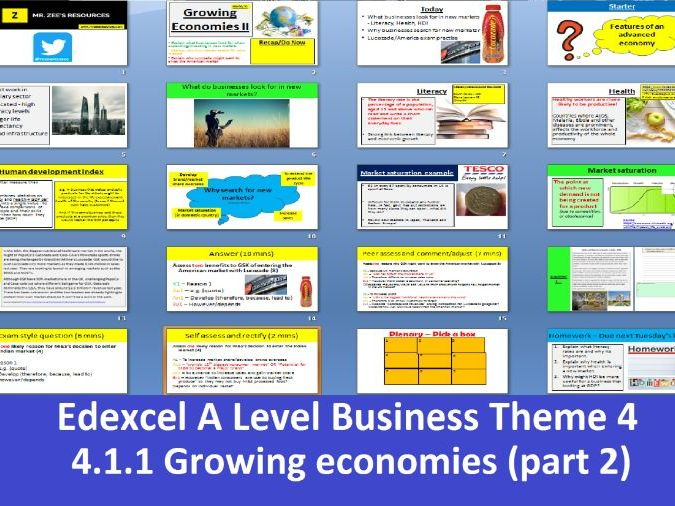 Edexcel A Level Business Theme 4 - 4.1.1 Growing economies part 2
