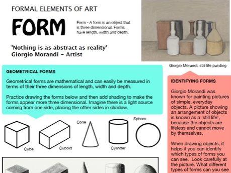 Form - Formal Elements of Art 4