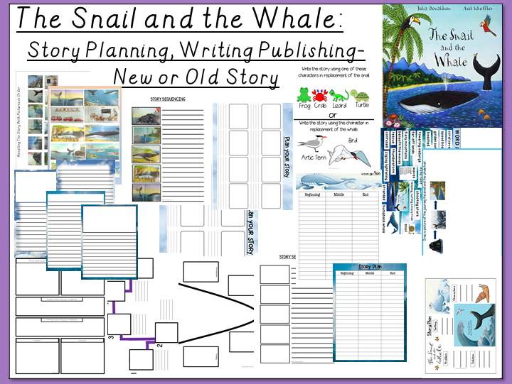 The Snail and the Whale-Story Writing, Planning and Publishing- New or Old