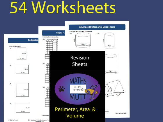 Revision Sheets:  Perimeter, Area & Volume