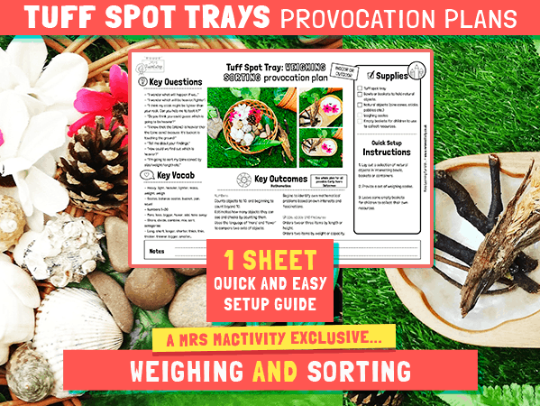 Tuff Spot Weighing & Sorting Provocation