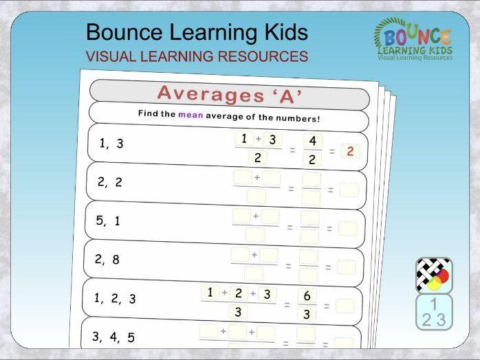 Averages: Mean, Median, Mode & Range