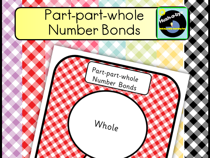 Part-Part-Whole Number Bonds, Gingham Themed Mats