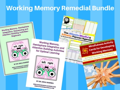Working Memory Remedial Bundle
