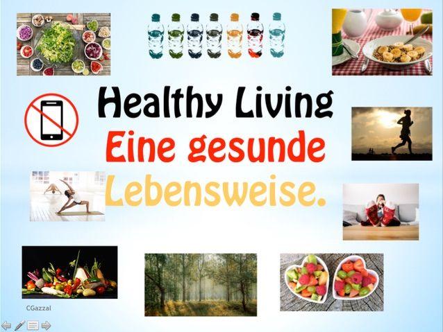 German – Healthy Lifestyle – Eine gesunde Lebensweise. KS3 & KS4.