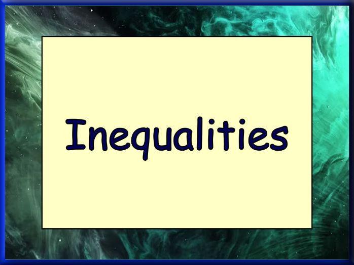 A - Z of Inequalities worksheet
