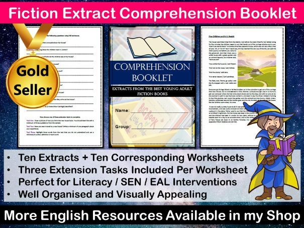 Comprehension Booklet - Fiction Texts - SEN - Lower Ability - EAL - Home Learning