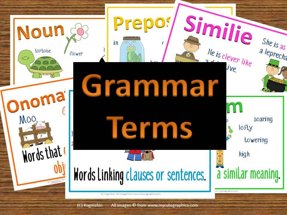 Grammar terms posters