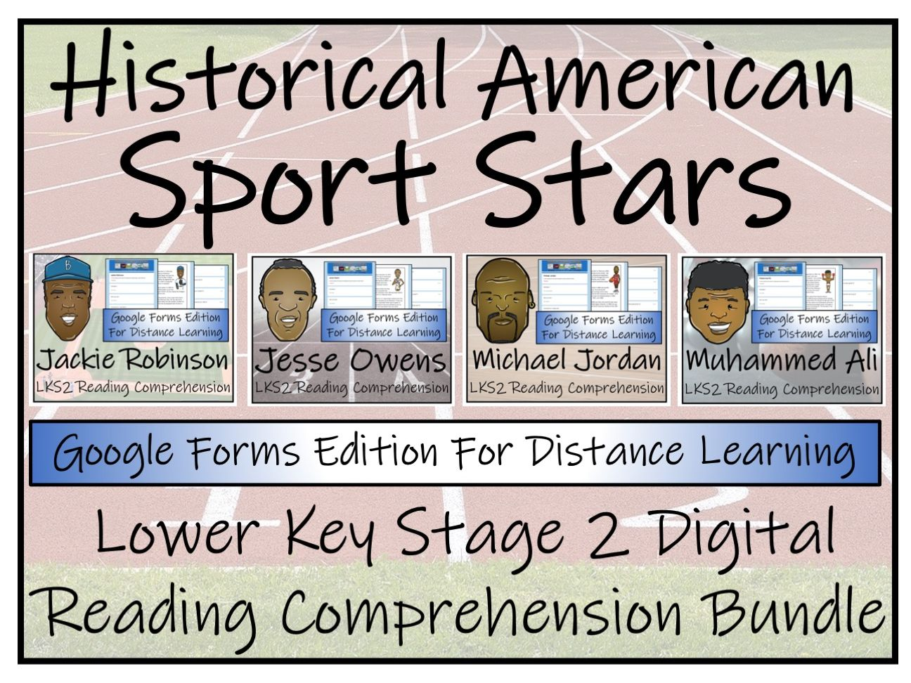 LKS2 Historical Sport Stars Reading Comprehension & Distance Learning Bundle