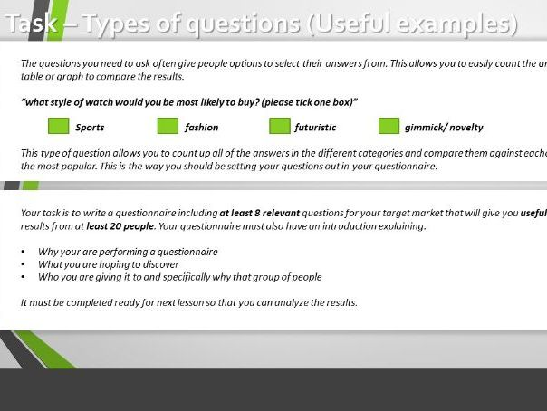 Questionnaire Creation & Analysis