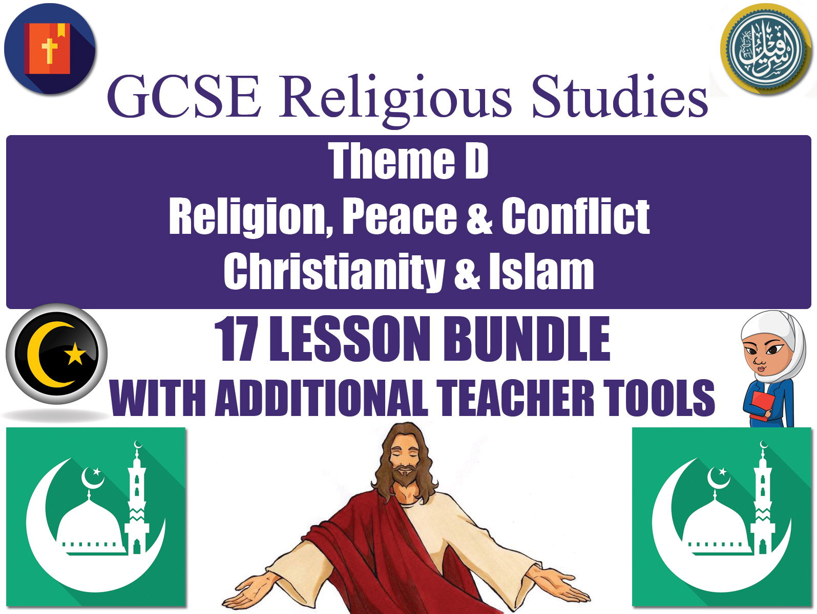 GCSE Islam & Christianity - Religion, Peace & Conflict (17 Lessons)