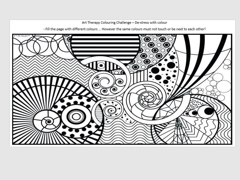Art Therapy - Colouring Challenge - Mindfulness - De-stress  & social emotional SEND well being