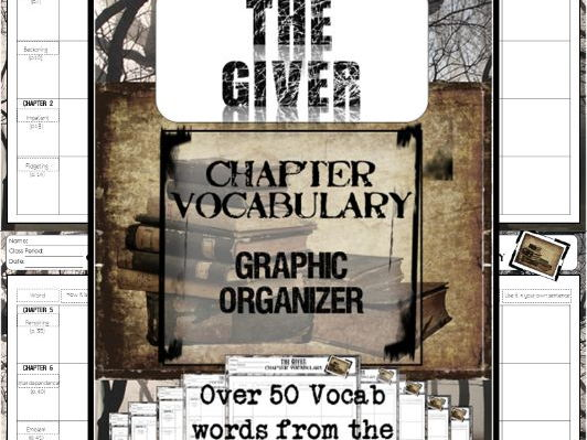 The Giver Unit Lessons: Chapter Vocabulary Graphic Organizers Activity