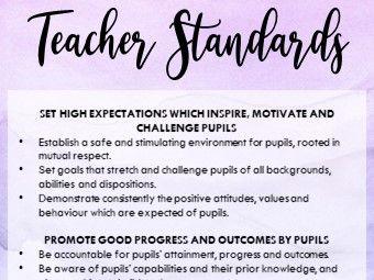 Teacher Standard Bookmark