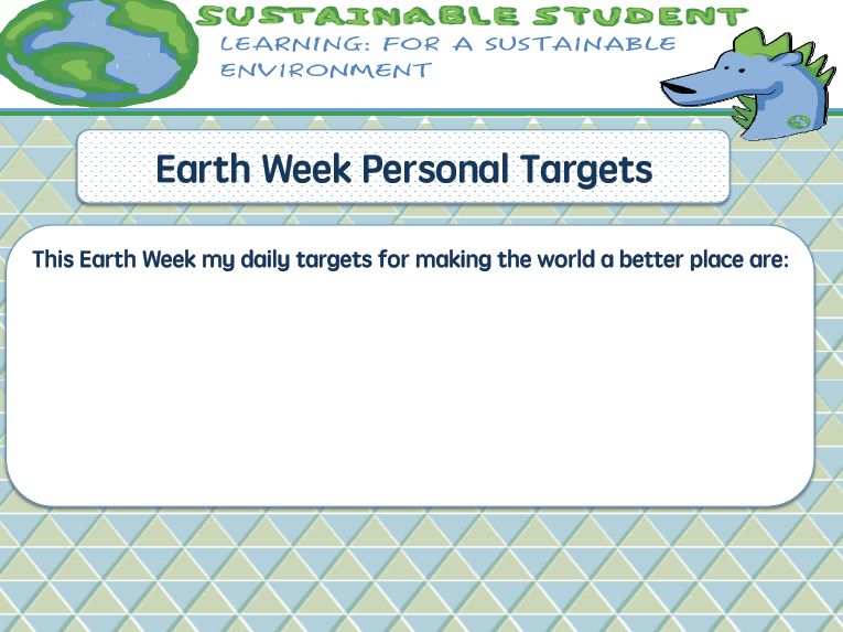 Earth Day targets for the week