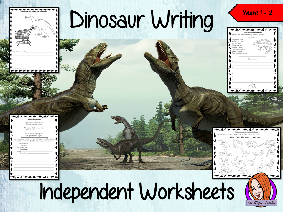 Dinosaur Themed Independent Writing Work - Years 1/2
