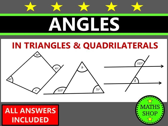 GCSE 9-1 Revision Angles in triangles and quadrilaterals Angles in Parallel Lines