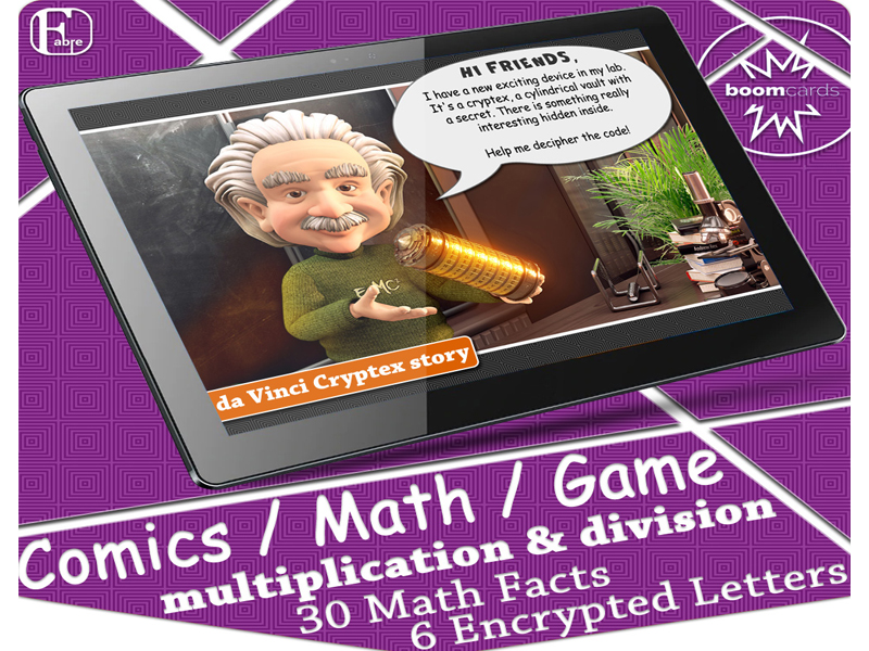 Cryptogram Puzzles | Cryptex Math Facts Boom Cards (multiplication and division)