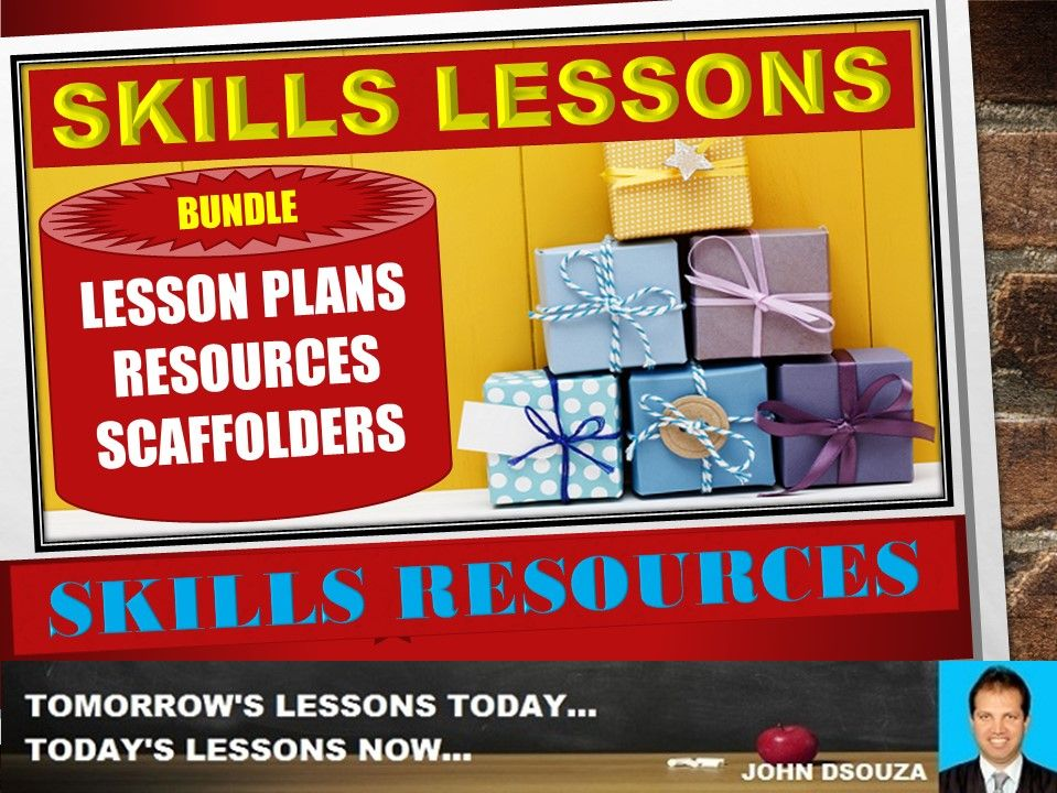SKILLS LESSONS AND RESOURCES BUNDLE