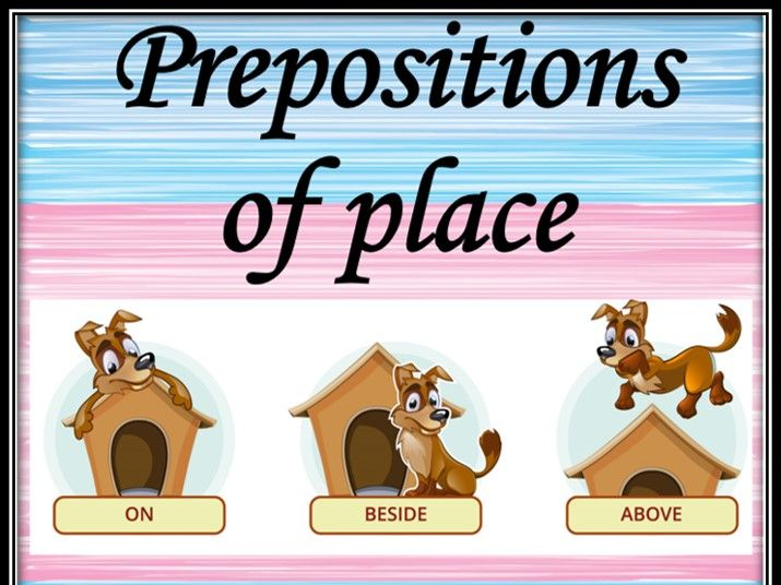 Prepositions of place. Memory game.