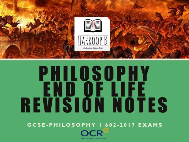 GCSE Philosophy 1 End of Life Revision Notes - Ocr B