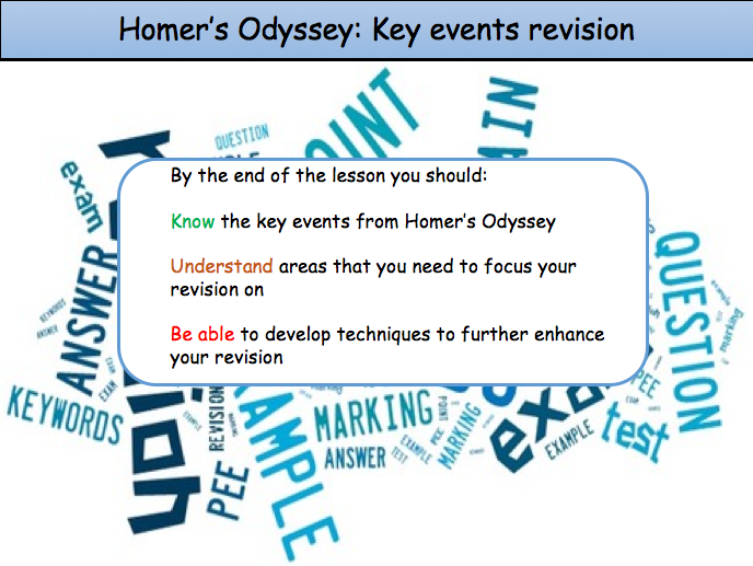 Homer's Odyssey Key Events Revision