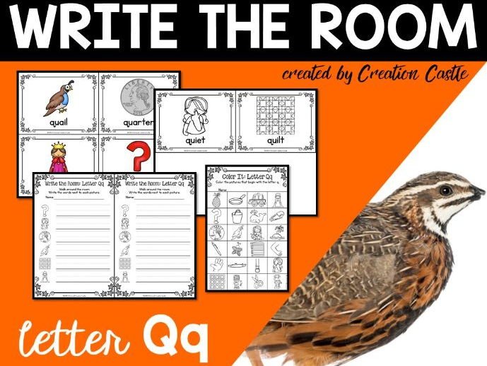 Alphabet Write the Room - Letter Q Mini Set