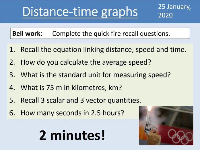 GCSE Physics - Distance-time graphs - Unit 5.6.1.4 (AQA 9-1)