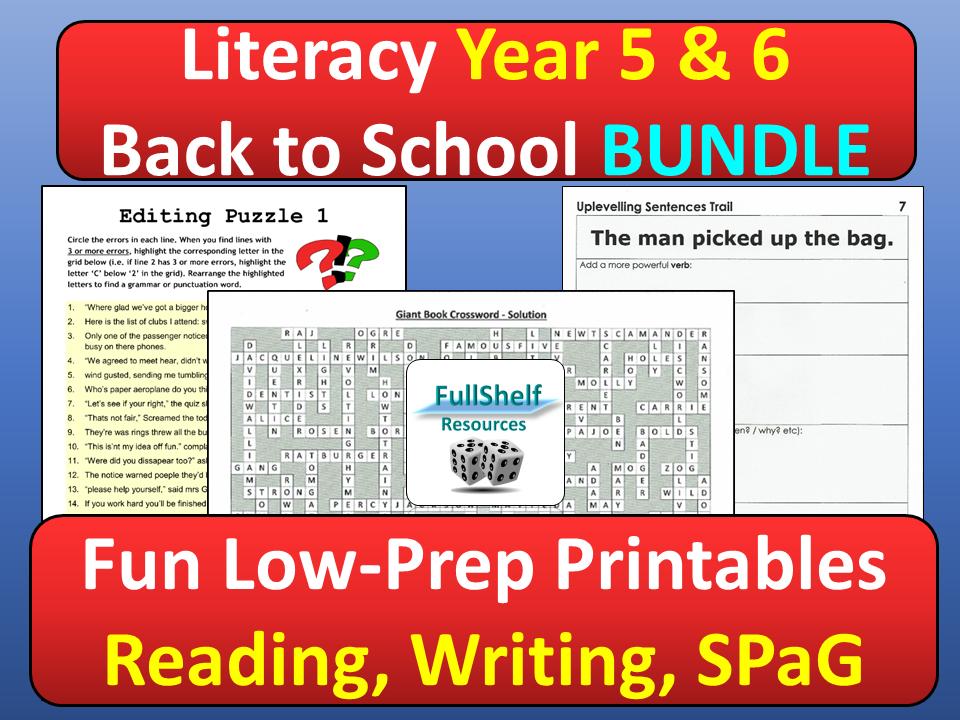 Literacy Activities Year 5 / 6