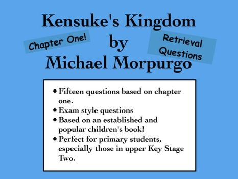 Guided Reading: Kensuke's Kingdom Chapter One