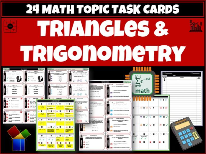 Triangles and Trigonometry - Maths task cards