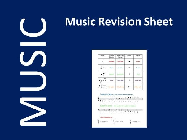 Music Information Sheet