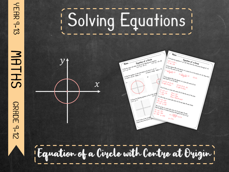 Circle Graphs - Equation of a Circle with Centre at Origin