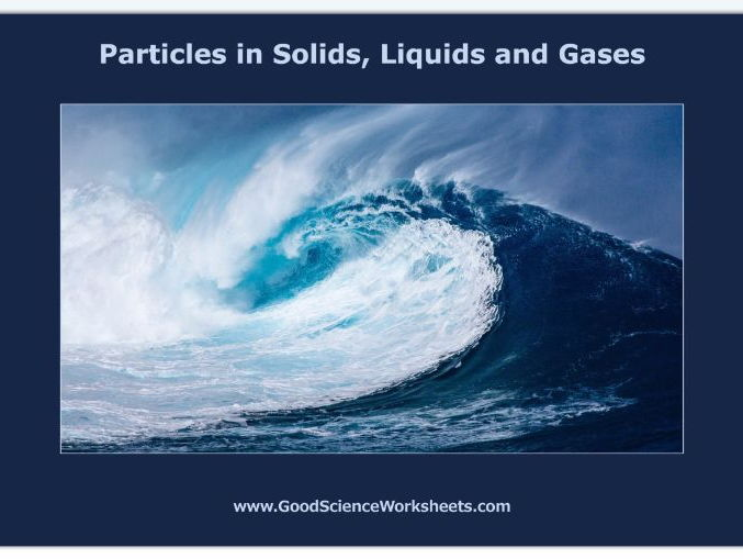 Particles in Solids, Liquids and Gases [Worksheet – Interactive Version]