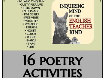 Creative Writing - 16 Quick Poetry Activities