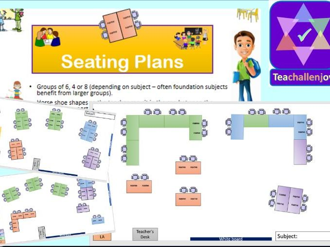 Seating Plan Pack - Group Work, Behaviour Management and Focus Tables