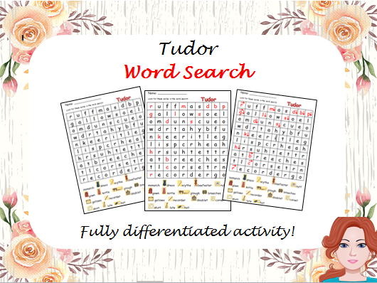 Tudor - wordsearch (differentiated)