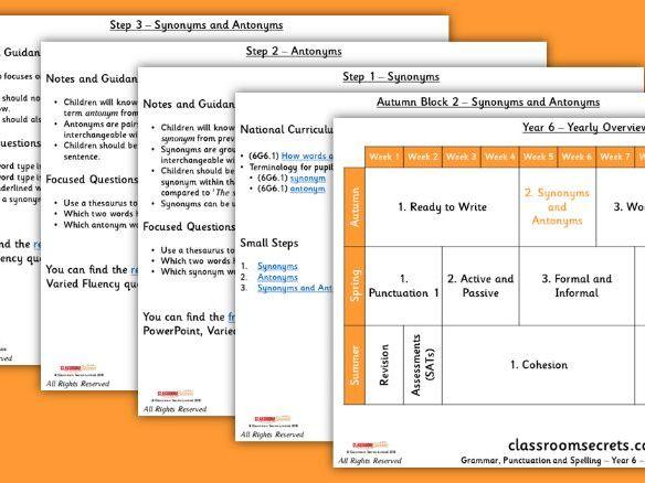 FREE Grammar Scheme of Work Year 6 Autumn Block 2