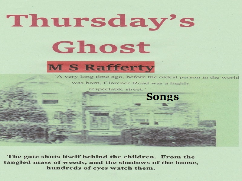 Thursday's Ghost fantastic creatures' songs PP with writing frames