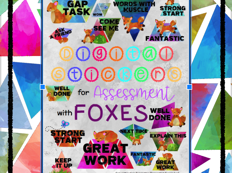 Digital Stickers for Assessment with Foxes