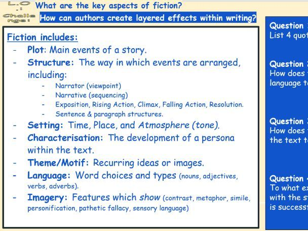 AQA English Language Scheme of Work - Paper 1 Reading
