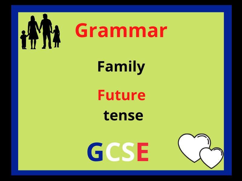 French future tense - family